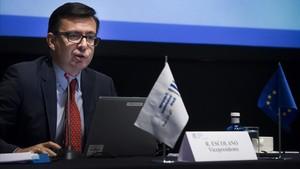 El nuevo ministro de Economía, Román Escolano, en una imagen del 2014, comovicepresidente del Banco Europeo de Inversiones.