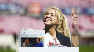 Shakira, en la presentación de un proyecto solidario.