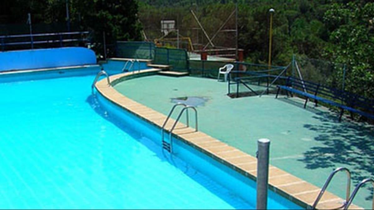 La piscina de una casa en Barcelona.