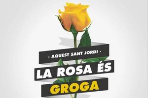 La campanya de la rosa groga per Sant Jordi preocupa els floristes