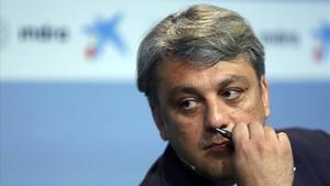 Luca de Meo durante el debate en la 34 Reunió Cercle dEconomia.