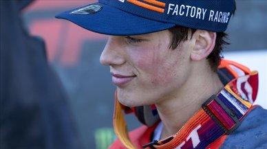 El joven Prado, de 17 años, flamante campeón del mundo de motocross
