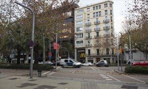 Diagonal con Rambla de Catalunya, donde fue atropellado un joven en Fin de Año.