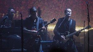 Massive Attack, durante el concierto de este sábado en el Sant Jordi Club.