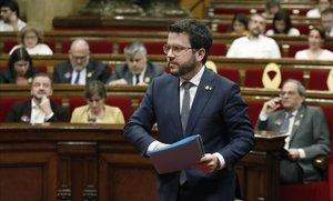 """Aragonès (ERC) es desmarca de la guàrdia de Torra: """"Confiem en els Mossos"""""""