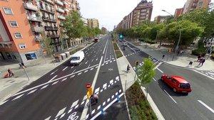 Imagen del tramo de Meridiana ya reformado, entre València y Mallorca.
