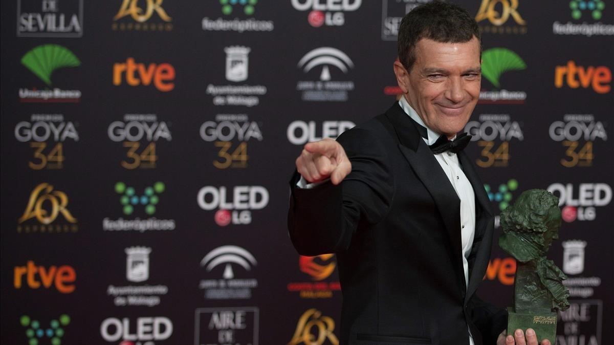 Antonio Banderas, con el Goya al mejor actor