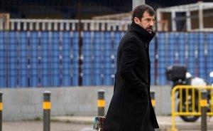 El comisario de los MossosFerran Lopez a su llegada a la Audiencia Nacional a declarar como testigo en el juicio contra el mayor Josep Lluis Trapero.