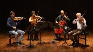 El Quartet Casals, uno de los seis cuartetos que participaronen la primera Bienal Internacional de Cuartetos del Auditori, cuyos conciertos están disponibles en L'Auditori Digital.
