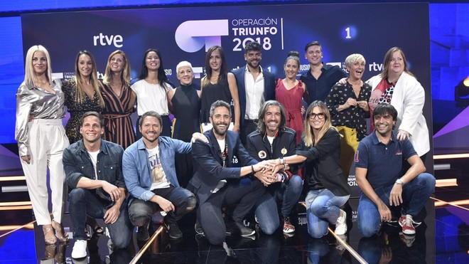 Presentador, jurado, directores de la Academia y Musical, jurado y profesores de OT. (TVE-1).