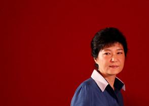 Park Geun-hye, durante un acto de su partido, Saenuri, en Goyang.