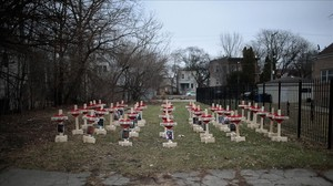 zentauroepp37011887 chicago il january 23 forty three crosses sit in a vacan170125104537