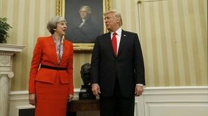 mbenach37067702 u s president donald trump speaks with british prime minist170127203846