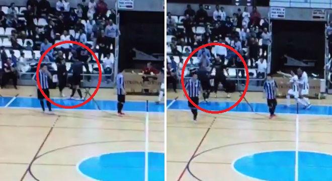 Agresión a un árbitro en el partido Castellón-Barceloneta