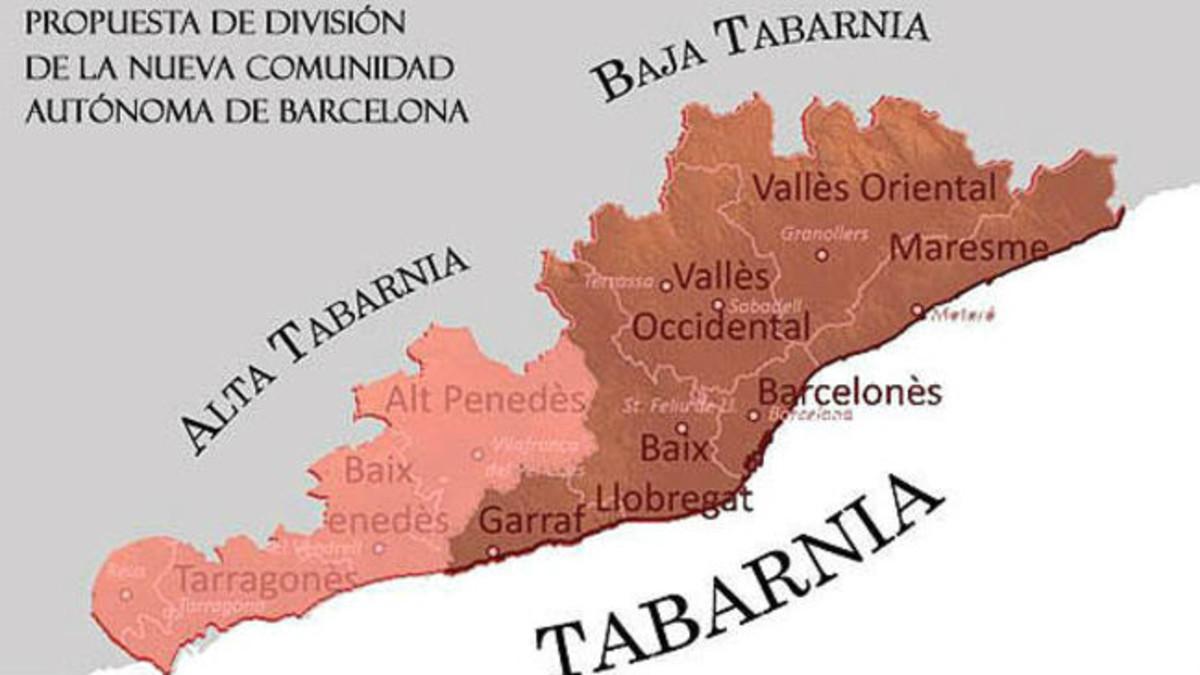 El mapa de Tabarnia