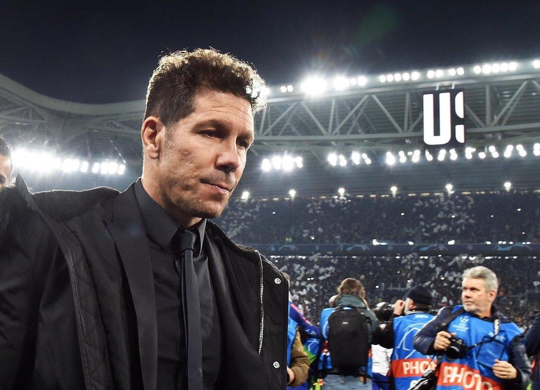 Simeone tras la derrota ante la Juventus en Turín.