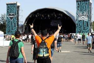 El Download Festival 2019, que se celebra en los exteriores de la Caja Mágica.