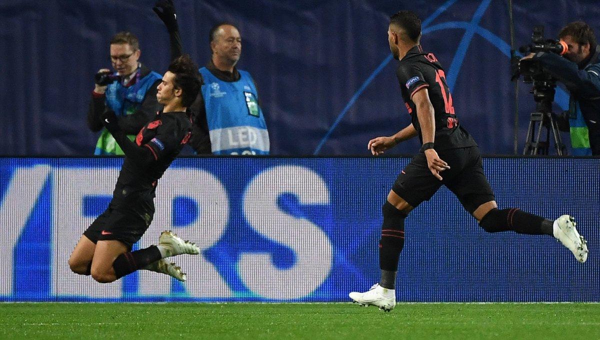 El atlético João Félix celebra el primer gol ante el Lokomotiv de Moscú.