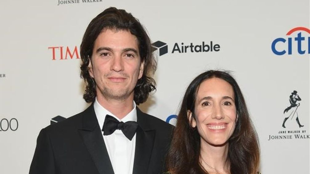 Adam Neumann y Rebekah Paltrow, en una gala en el Lincoln Center de Nueva York, el 24 de abril del 2018.