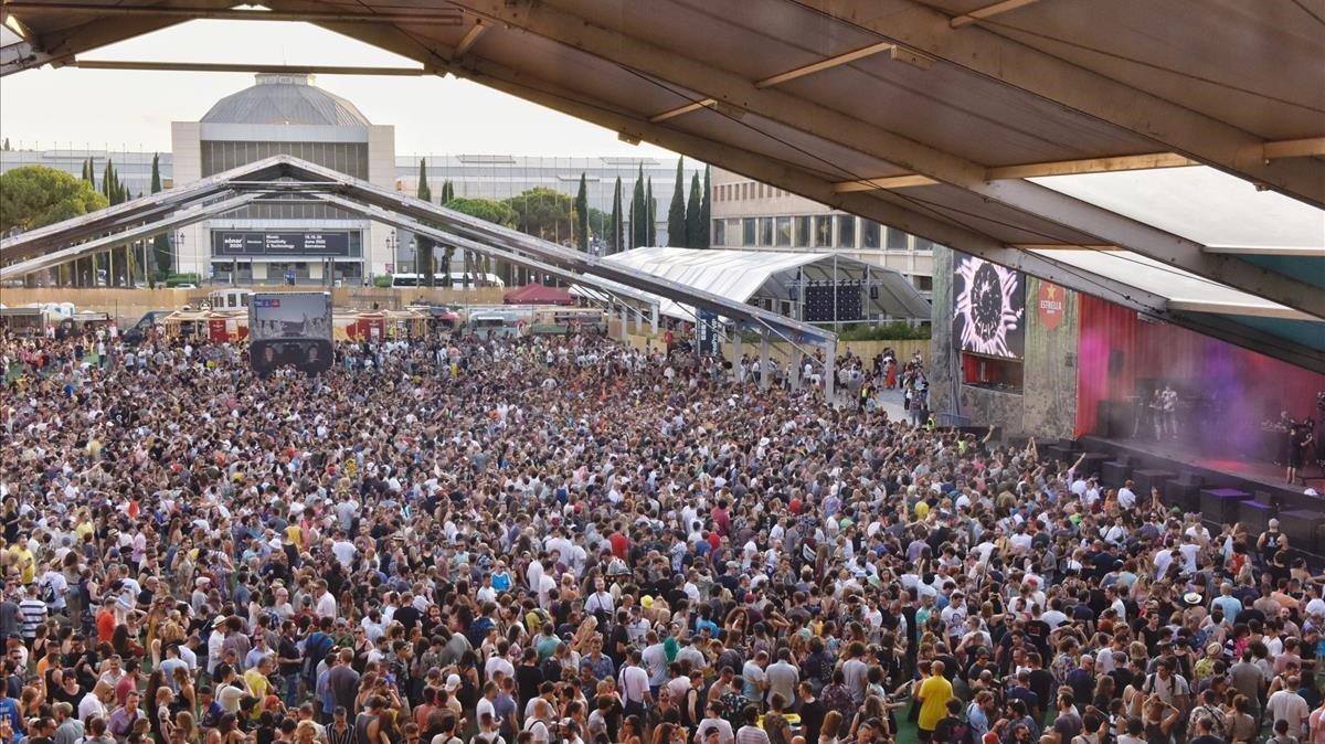 Ambiente y público en la segunda jornada del Festival Sonar 2019