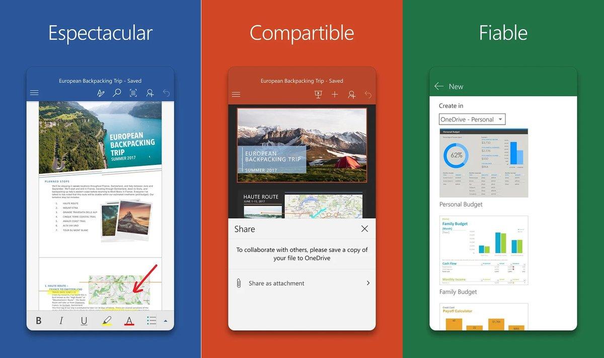 Aplicaciones de Office 365.