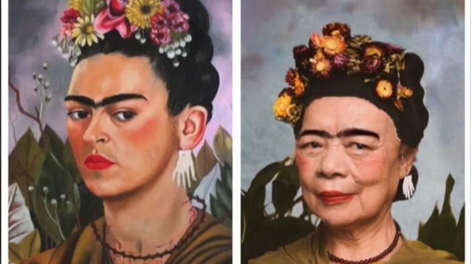 Els avis d'una residència de Xangai es fan famosos per recrear obres d'art