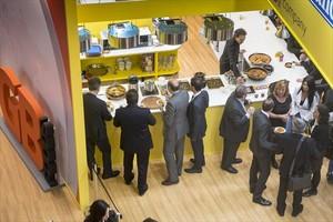 Aspecto de un estand de la feria Alimentaria, que se celebra en Barcelona hasta el jueves.