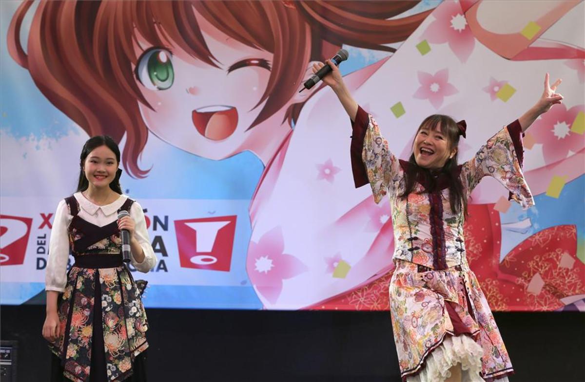 Yu Yu y Azumi Inoue, en el Salón del Manga de Barcelona.