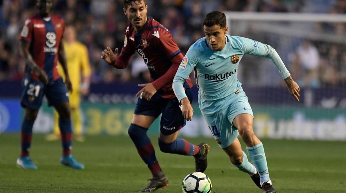 El Barça perdió pese al acierto goleador de Coutinho.