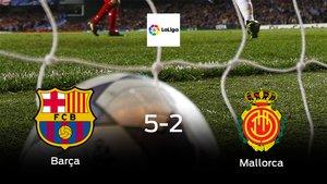 El Barcelona muestra su poderío tras golear al Mallorca (5-2)