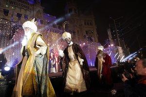 Cabalgata de Reyes en Madrid.