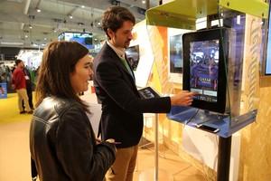 Cabina inteligente de Telefónica en la Smart City Expo de Barcelona.