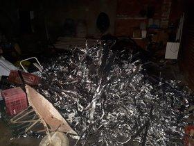 Material quemado encontrado por los Mossos.