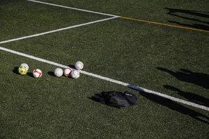 Un campo de fútbol.