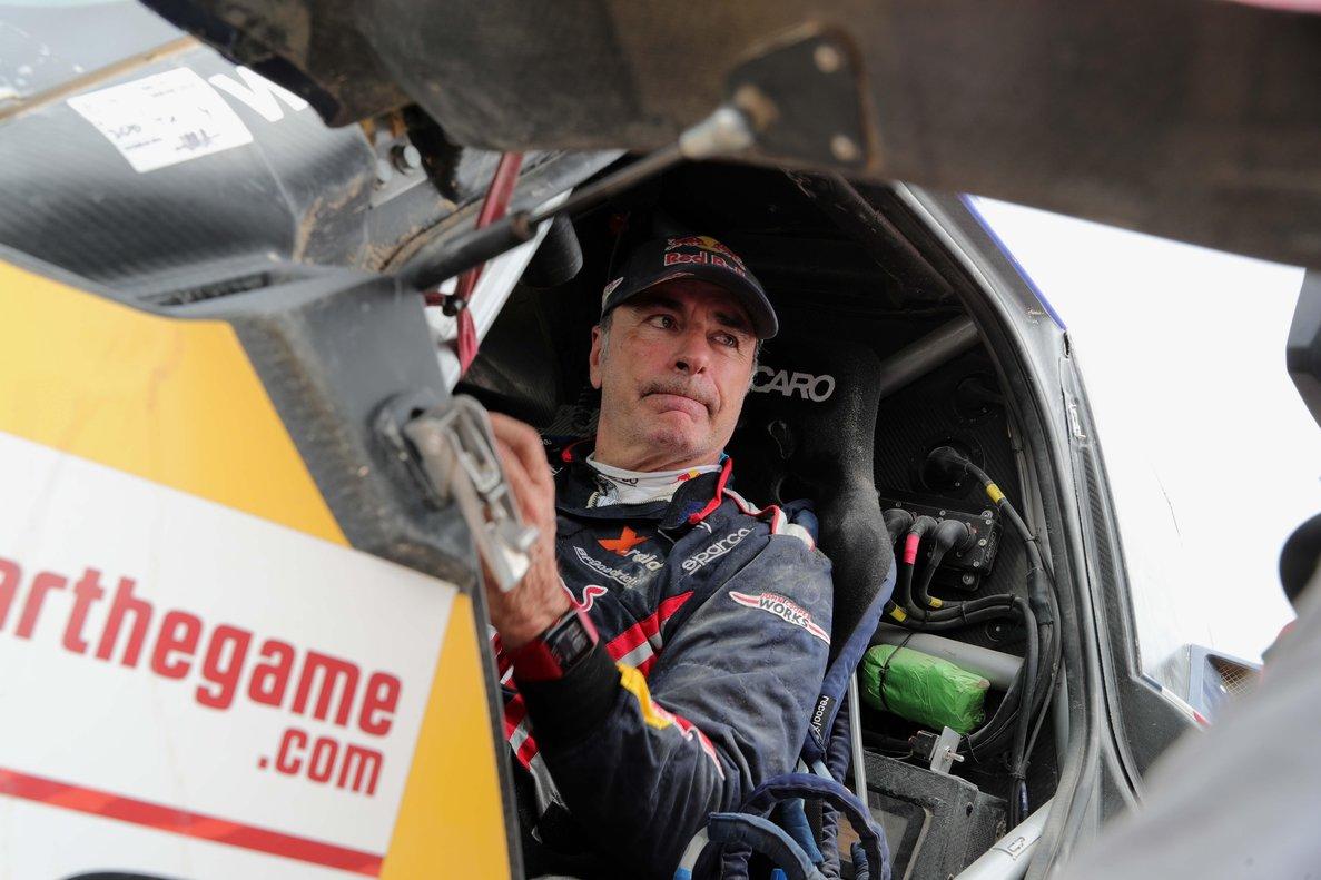 Carlos Sainz, en el Dakar.