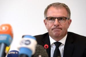El CEO de Lufthansa, Carsten Spohr, durant una roda de premsa, el 26 de març a Colònia.