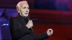 Actuación de Charles Aznavour en 2016 en los Jardines de Pedralbes.