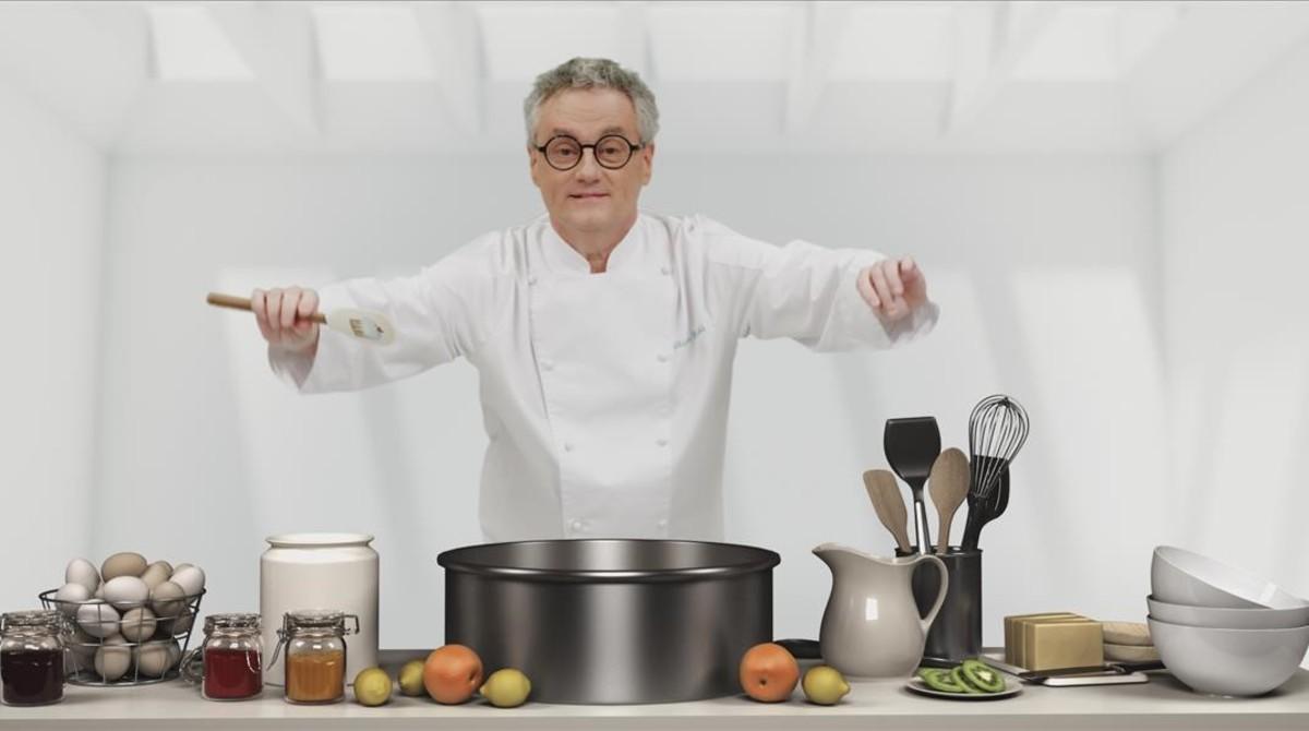 El maestro pastelero Christian Escribà, en una imagen promocionaldelprograma de TV-3 'Bogeria a la pastisseria'.