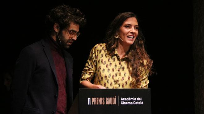 David Verdaguer y Núria Prims leen la lista de los nominados a los Premis Gaudí.