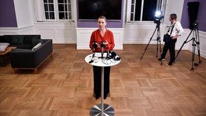 Mette Frederiksen anuncia el acuerdo para formar gobierno.