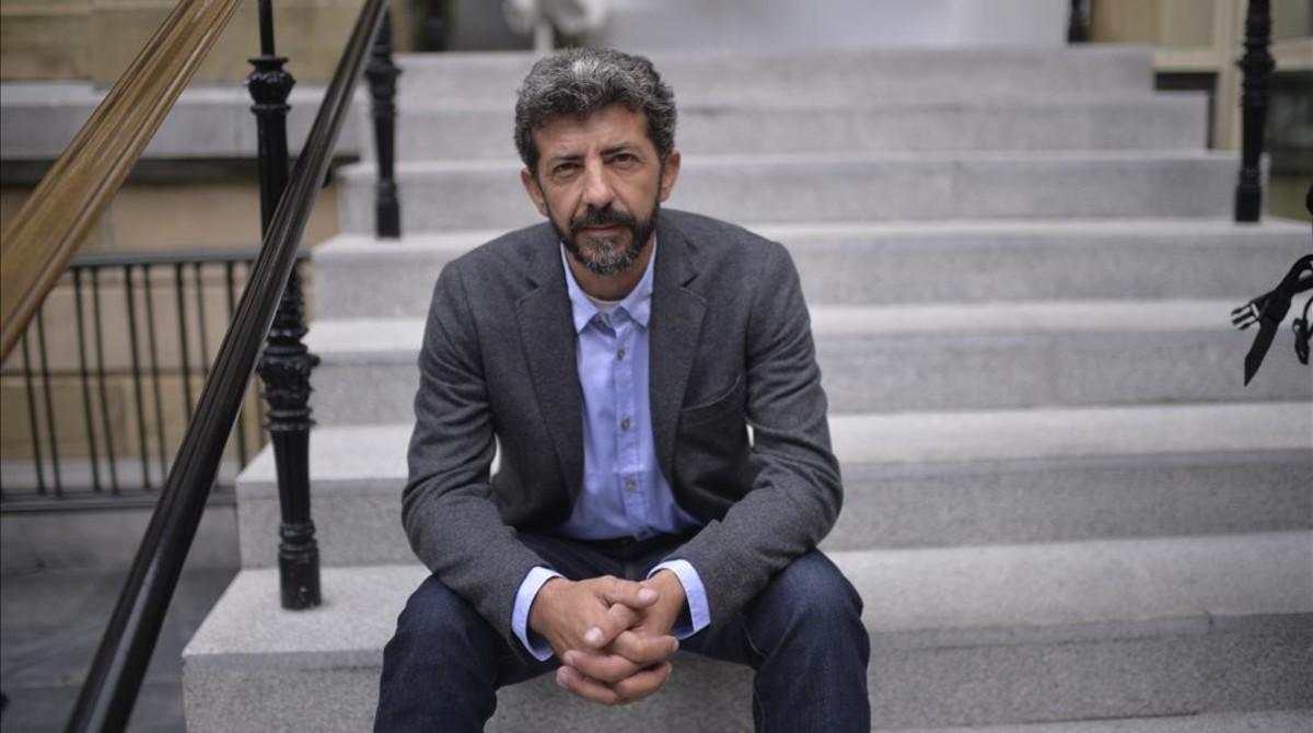 El director Alberto Rodríguez, en el festival de San Sebastián, donde ha presentado El hombre de las mil caras.