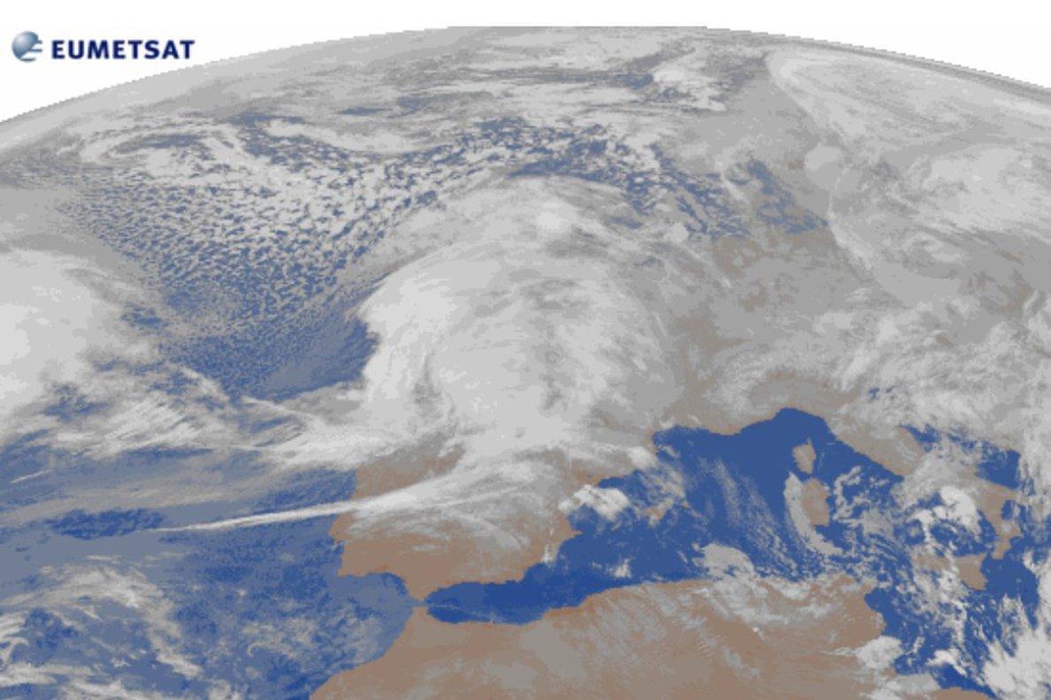 Imagen de satélite de la borrasca 'Gabriel'.