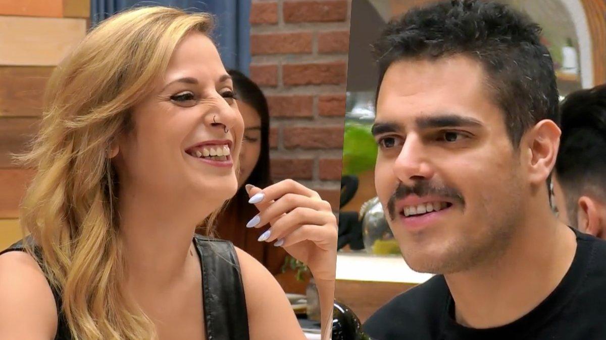Elena y Cristian en 'First Dates'.