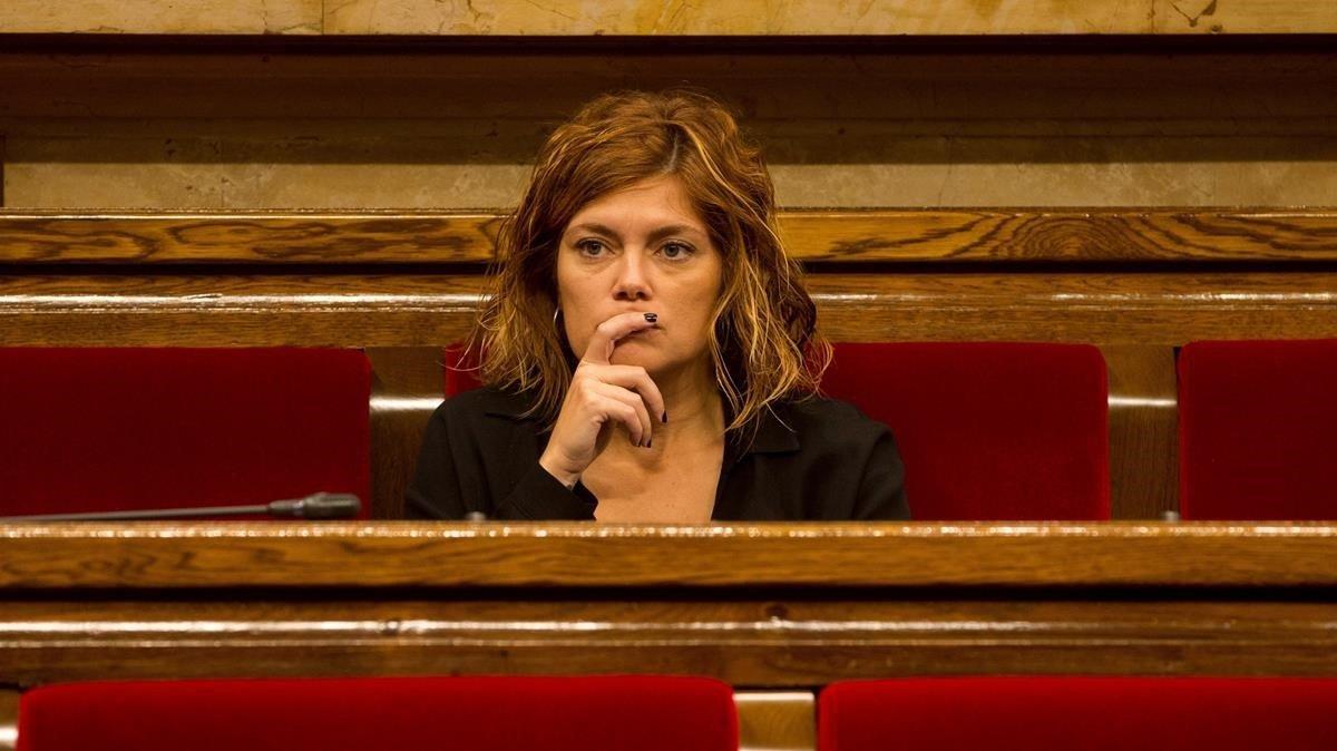 Elisenda Alamany, en el Parlament.
