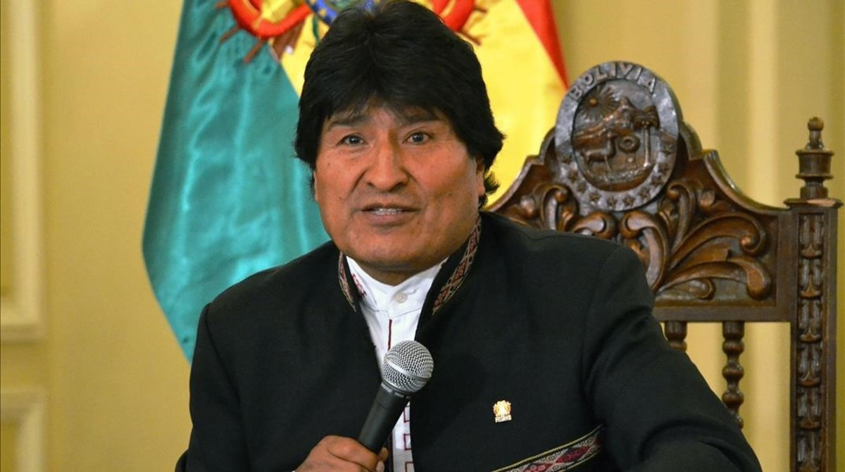 Evo Morales, el pasado noviembre, en La Paz.