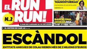 Torna 'El Run Run'!, el diari del PDECat crític amb la gestió d'Ada Colau