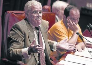 El fiscal superior de Catalunya, José María Romero de Tejada, en su comparecencia ante la comisión Pujol.