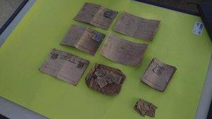 Las postales fueron encontradas en los restos del fusilado