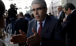 Francesc Homs, a su llegada al debate de investidura.