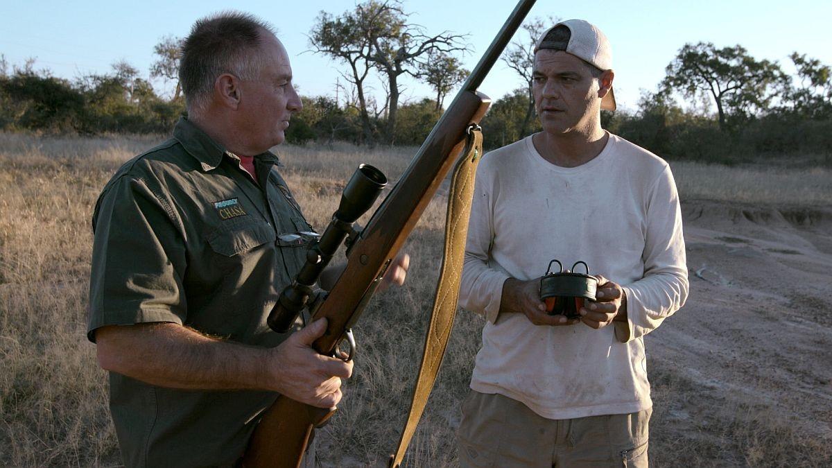 Frank Cuesta con Stephen Palos, en un momento del programa.